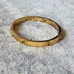 Kate Spade Gold Hinge Clasp Logo Bracelet